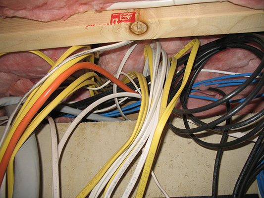 Insulation efeated by wires