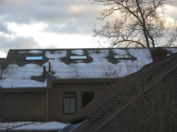 Roof snow melt around skylights